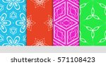 creative set of decorative... | Shutterstock .eps vector #571108423