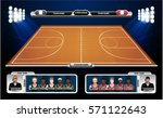 basketball court with... | Shutterstock .eps vector #571122643