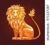 vector image of a golden...   Shutterstock .eps vector #571127287