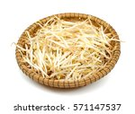 bean sprouts in basket  on... | Shutterstock . vector #571147537