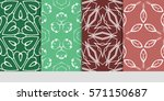 set of flower  geometric... | Shutterstock .eps vector #571150687