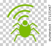 Radio Spy Bug Icon. Vector...