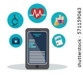 technology application medical... | Shutterstock .eps vector #571159063