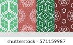 set of color floral  linear... | Shutterstock .eps vector #571159987
