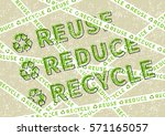 reuse reduce recycle vector... | Shutterstock .eps vector #571165057