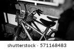 Old Bike White And Black...