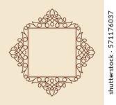 decorative frames . vintage... | Shutterstock .eps vector #571176037