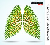 Abstract Human Lungs Of...