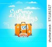 travel bag vector illustration. ... | Shutterstock .eps vector #571181527