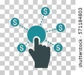 click financial network icon....