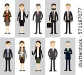group business people design... | Shutterstock .eps vector #571187077