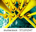 offshore industry oil and gas... | Shutterstock . vector #571191547
