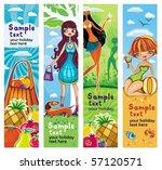 vector vacation banners set 5. | Shutterstock .eps vector #57120571
