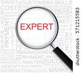 expert. magnifying glass over... | Shutterstock . vector #571215583