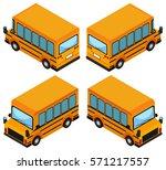3d design for school bus... | Shutterstock .eps vector #571217557