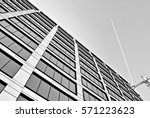 modern building.black and white.