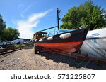 Small Vintage Wooden Boat On A...