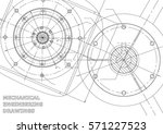 mechanical engineering drawings.... | Shutterstock .eps vector #571227523