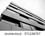 facade of a modern apartment... | Shutterstock . vector #571238707