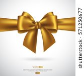 realistic golden bow and ribbon....   Shutterstock .eps vector #571250677