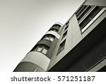 modern apartment building.... | Shutterstock . vector #571251187