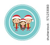 christmas tag ornament | Shutterstock .eps vector #571253083