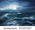 original oil painting showing... | Shutterstock . vector #571257457