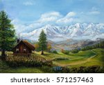 Original Oil Painting Of House...
