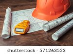 blueprints. engineering project | Shutterstock . vector #571263523