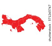 panama red map | Shutterstock .eps vector #571265767
