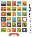 set of square flat design long...   Shutterstock .eps vector #571276273