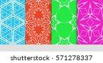 set of original floral  linear... | Shutterstock .eps vector #571278337