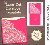 lasercut vector wedding...   Shutterstock .eps vector #571297657