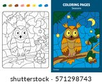 seasons coloring page for kids.... | Shutterstock .eps vector #571298743