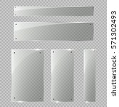 glass plates set. vector glass... | Shutterstock .eps vector #571302493