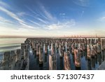 dawn at princes pier  port...   Shutterstock . vector #571307437
