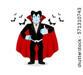 dracula thumbs up shows well.... | Shutterstock . vector #571310743