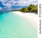 maldives amazing beach  palm... | Shutterstock . vector #571311853