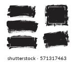 set of black paint  ink brush... | Shutterstock .eps vector #571317463