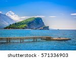 summer seafront view at st.... | Shutterstock . vector #571336903