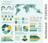 infographics elements... | Shutterstock .eps vector #571342303