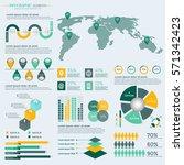 infographics elements... | Shutterstock .eps vector #571342423