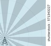 world radio day. radio tower | Shutterstock .eps vector #571343227