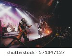 music band lordi performing...   Shutterstock . vector #571347127