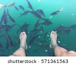 Feet Dipping Into Clear Water...