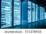 Big Data Dark Server Room With...