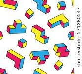 colorful game 3d blocks... | Shutterstock .eps vector #571380547