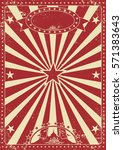 vintage red circus poster with... | Shutterstock .eps vector #571383643
