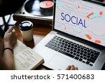digital community digital... | Shutterstock . vector #571400683
