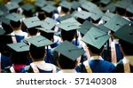 shot of graduation caps during... | Shutterstock . vector #57140308